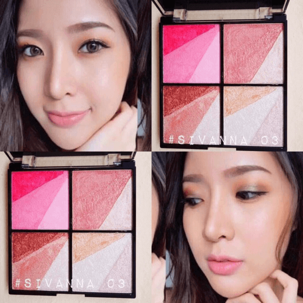Tạo Khối - Sáng Sivanna Colors Bronze & Contour & Highlight HF362